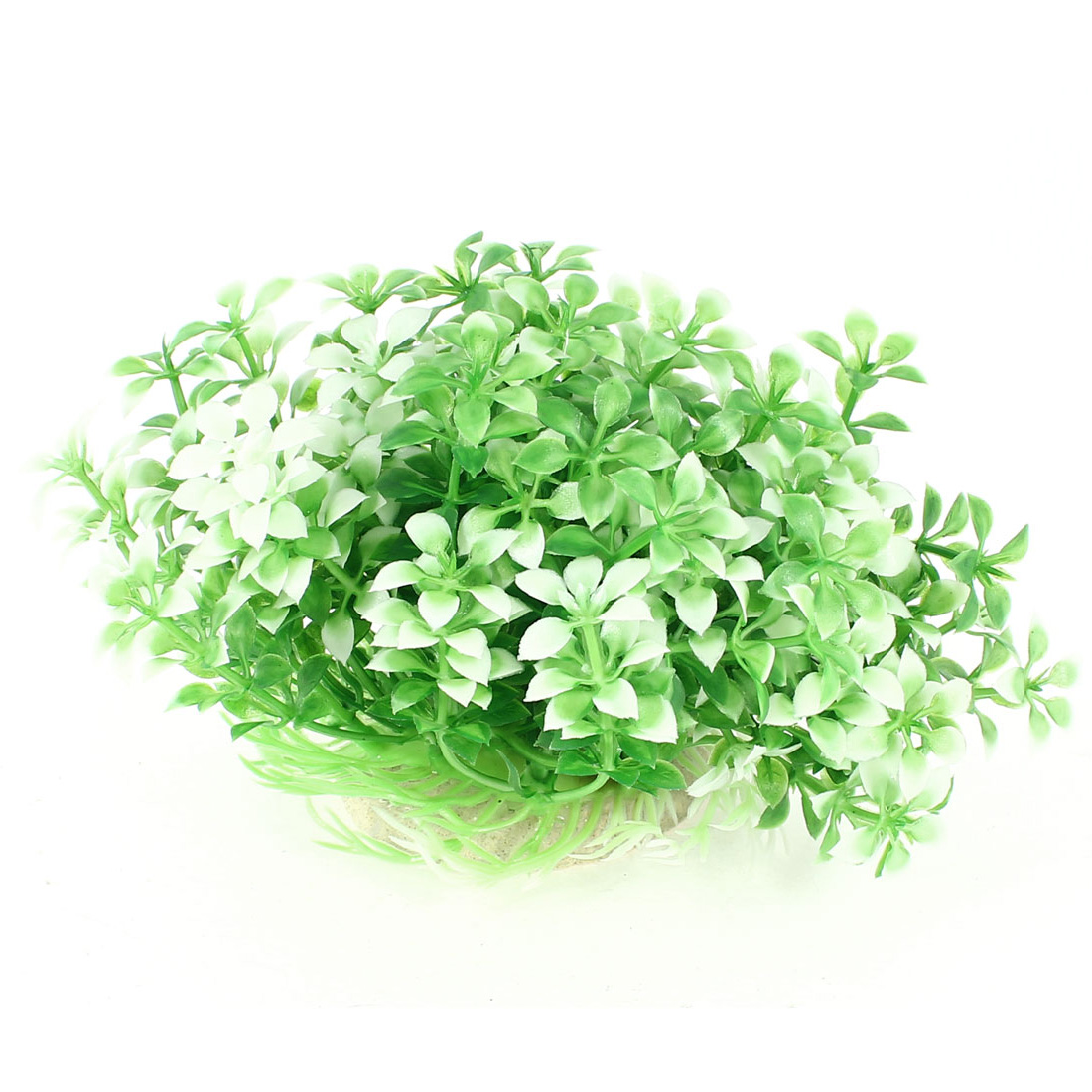 8cm Height Fish Tank Manmade White Green Plastic Adorn Underwater Aquaric Plant