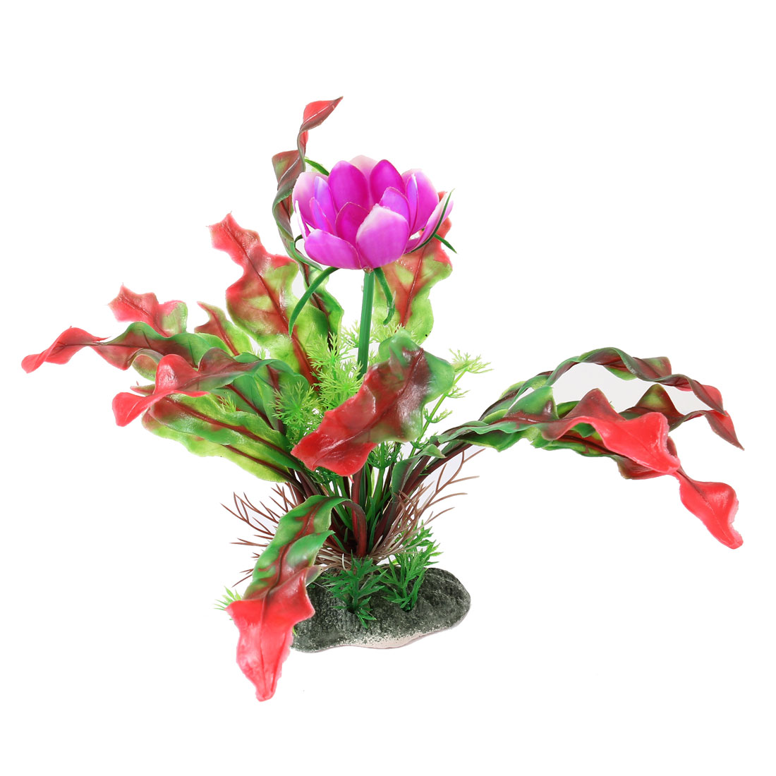 "Aquarium Fish Tank Ornament Landscaping Artificial Emulational Underwater Water Plant Grass Decor Green Red Purple 8.3"" Height"