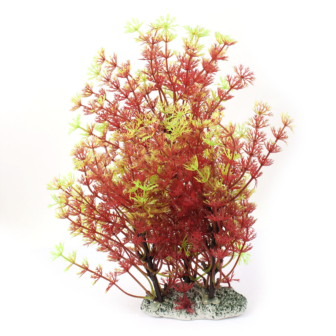 "Aquarium Fish Tank Ornament Landscaping Artificial Emulational Underwater Water Plant Grass Decor Yellow Green Red 9"" Height"