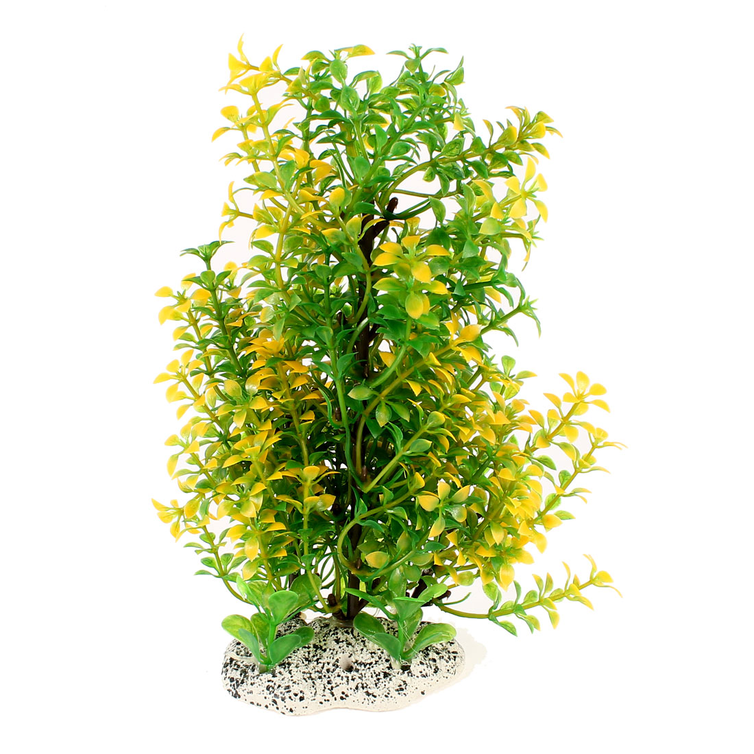"8.3"" Height Aquarium Tanks Aquascaping Yellow Green Plastic Decor Water Plant"