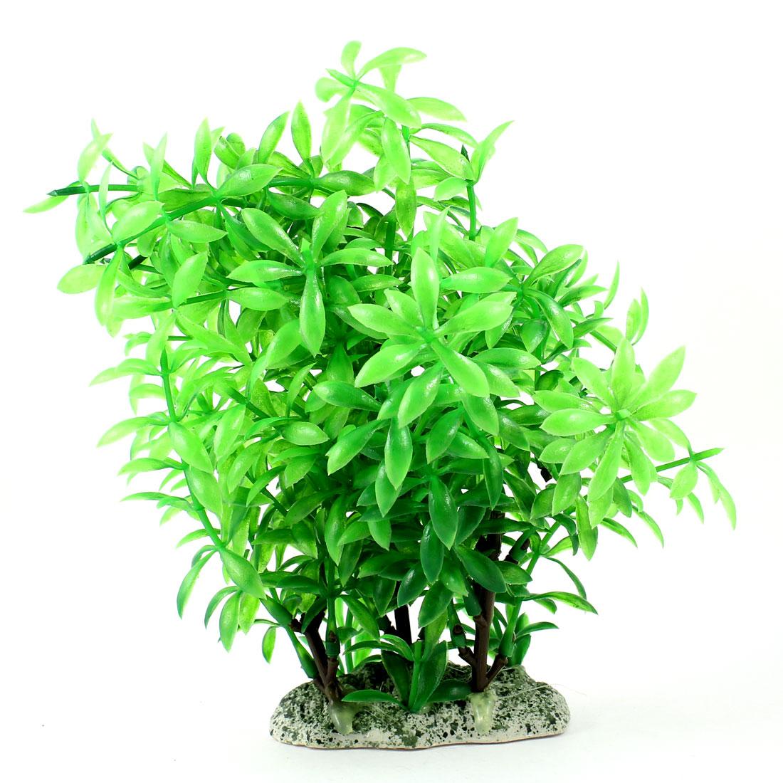 "Aquarium Fish Tank Ornament Landscaping Artificial Emulational Underwater Water Plant Grass Decor Green 6.7"" Height"