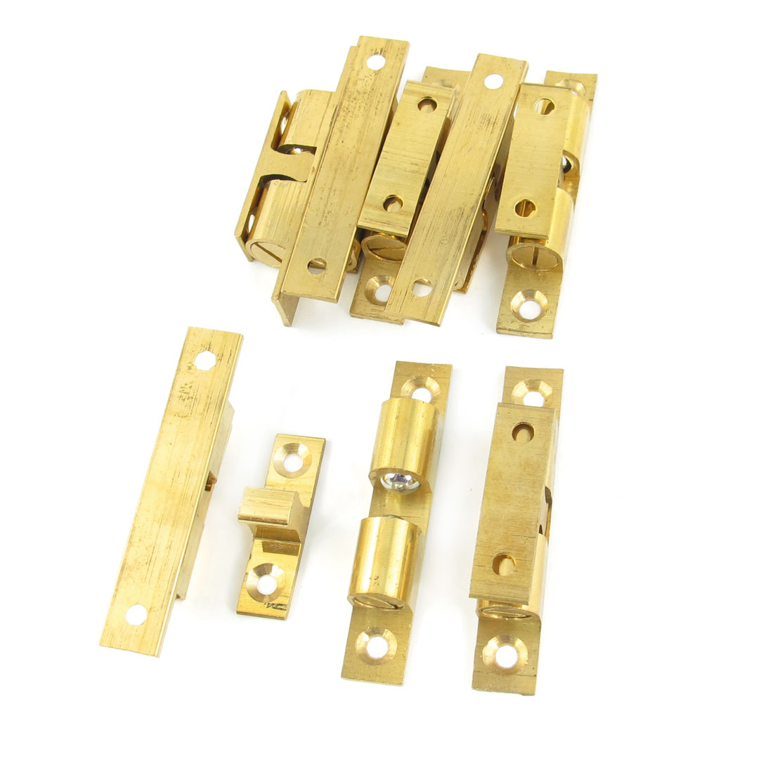 8 Pcs 60mm Long Brass Double Ball Catch Hardware Tool for Cabinet Doors