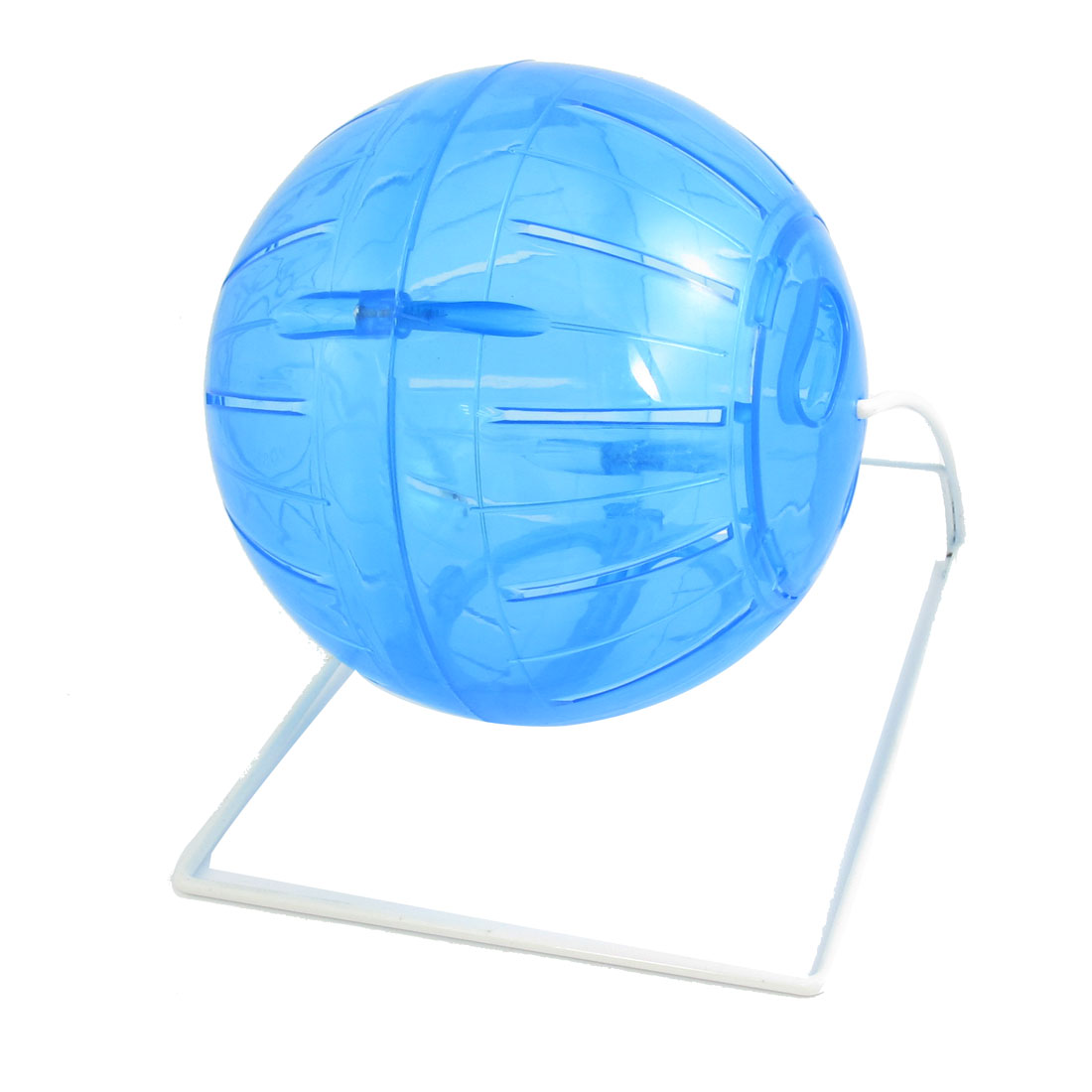 Mini Hamster Gerbil Mice Mouse Fitness Exercise Clear Blue Fun Toy Ball Wheel Cage
