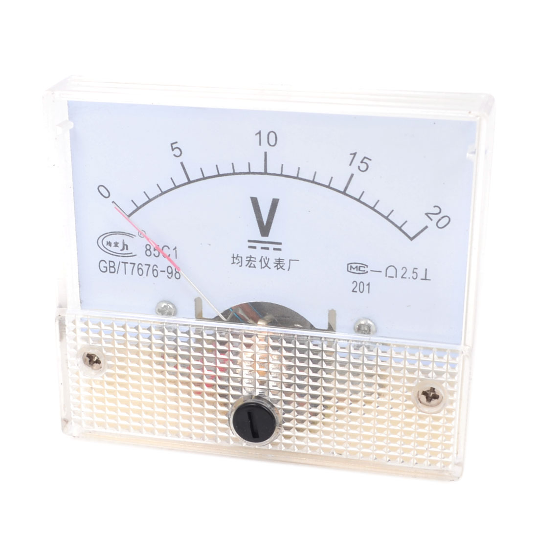 DC 0-20V Class 1 Accuracy Panel Gauge Voltmeter Voltage Meter 85C1
