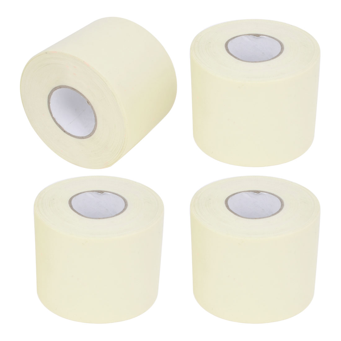 Air Conditioner PVC Pipe Hose Wrapping Tape Roller Ivory 4.6cmx15M 4 Pcs