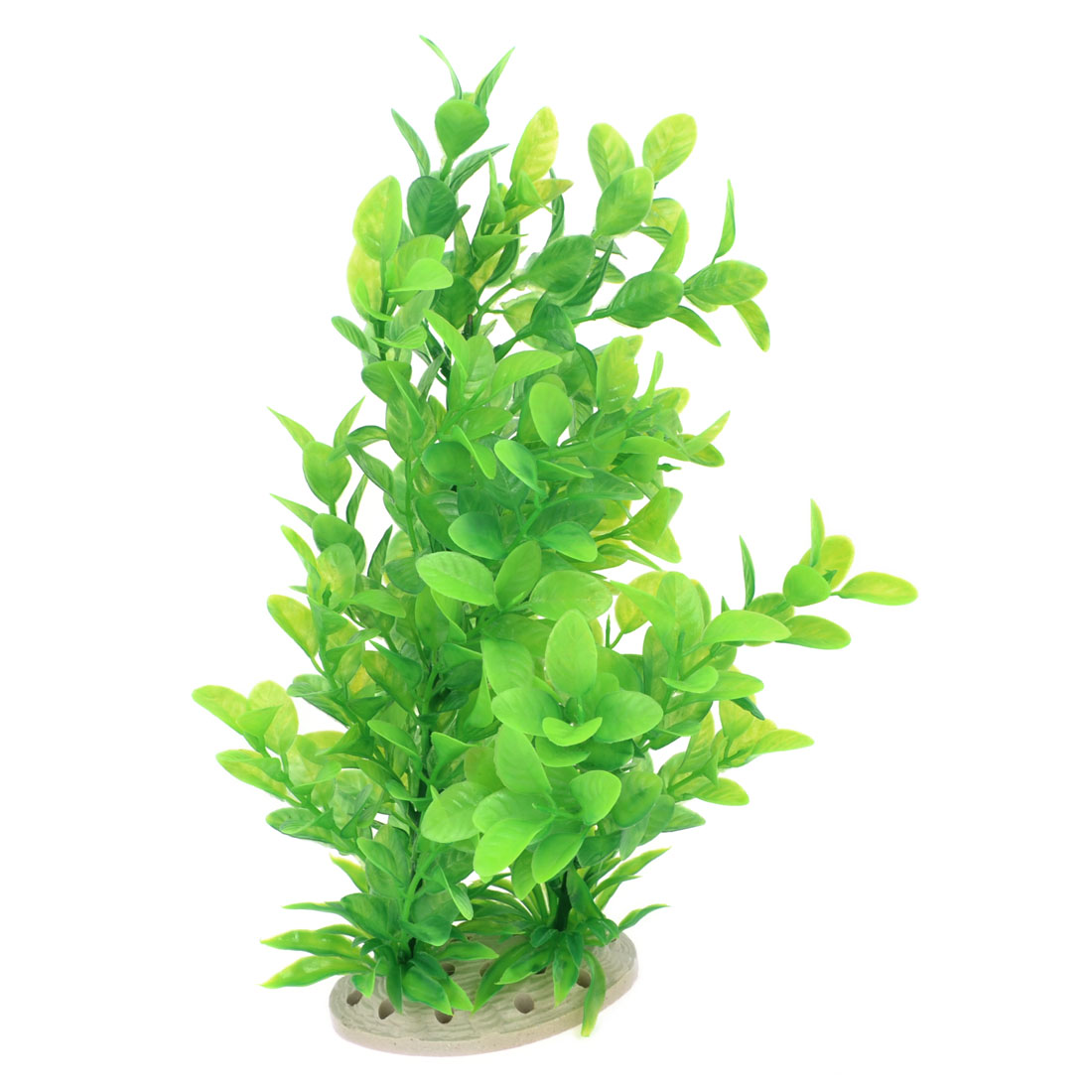 "11.8"" Height Fish Tank Decor Perforated Base Simulation Water Plant Grass Green"