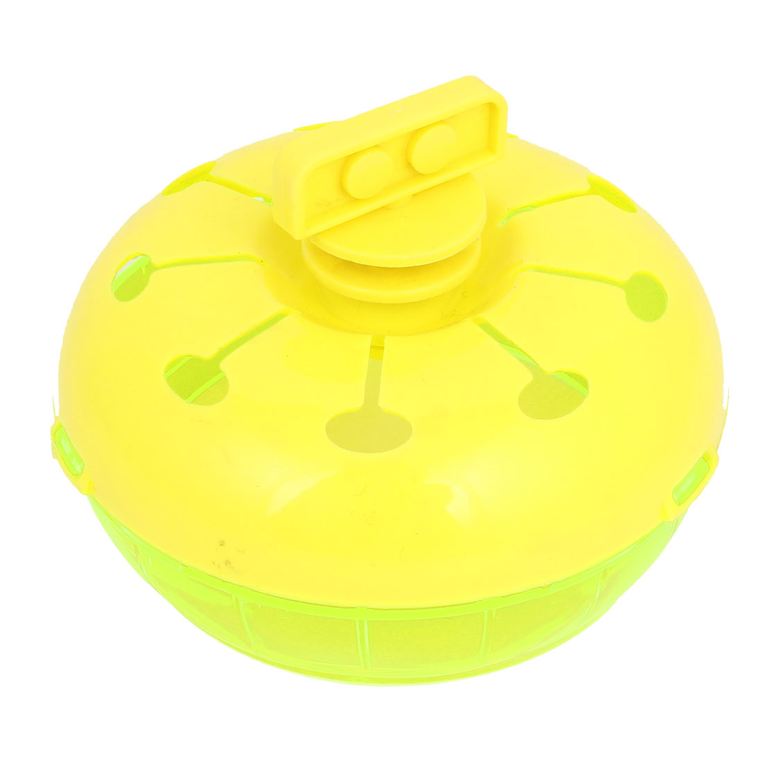 Round Shape Green Yellow Plastic Training Tool Turnable Toy for Pet Dog Cat