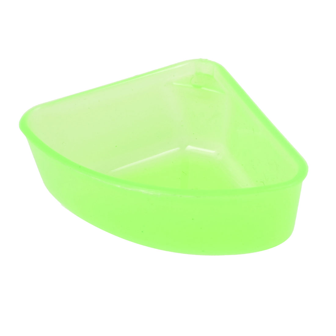 Dog Cat Triangle Green Plastic Pure Pattern Pet Slow Feed Bowl Feeder