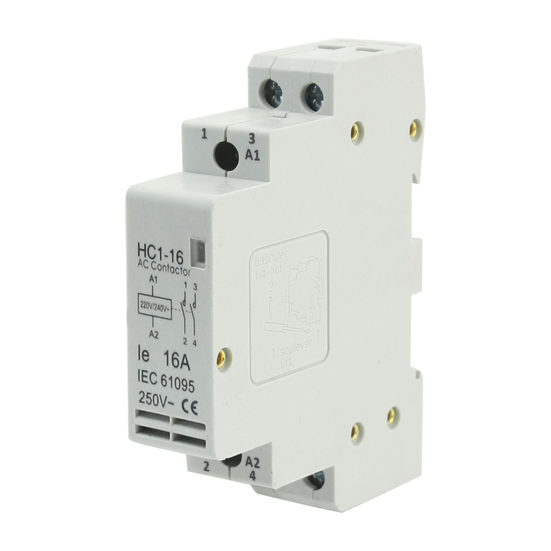 220/240V Coil 16A 2 Poles 2P Household Module AC Contactor AC250V