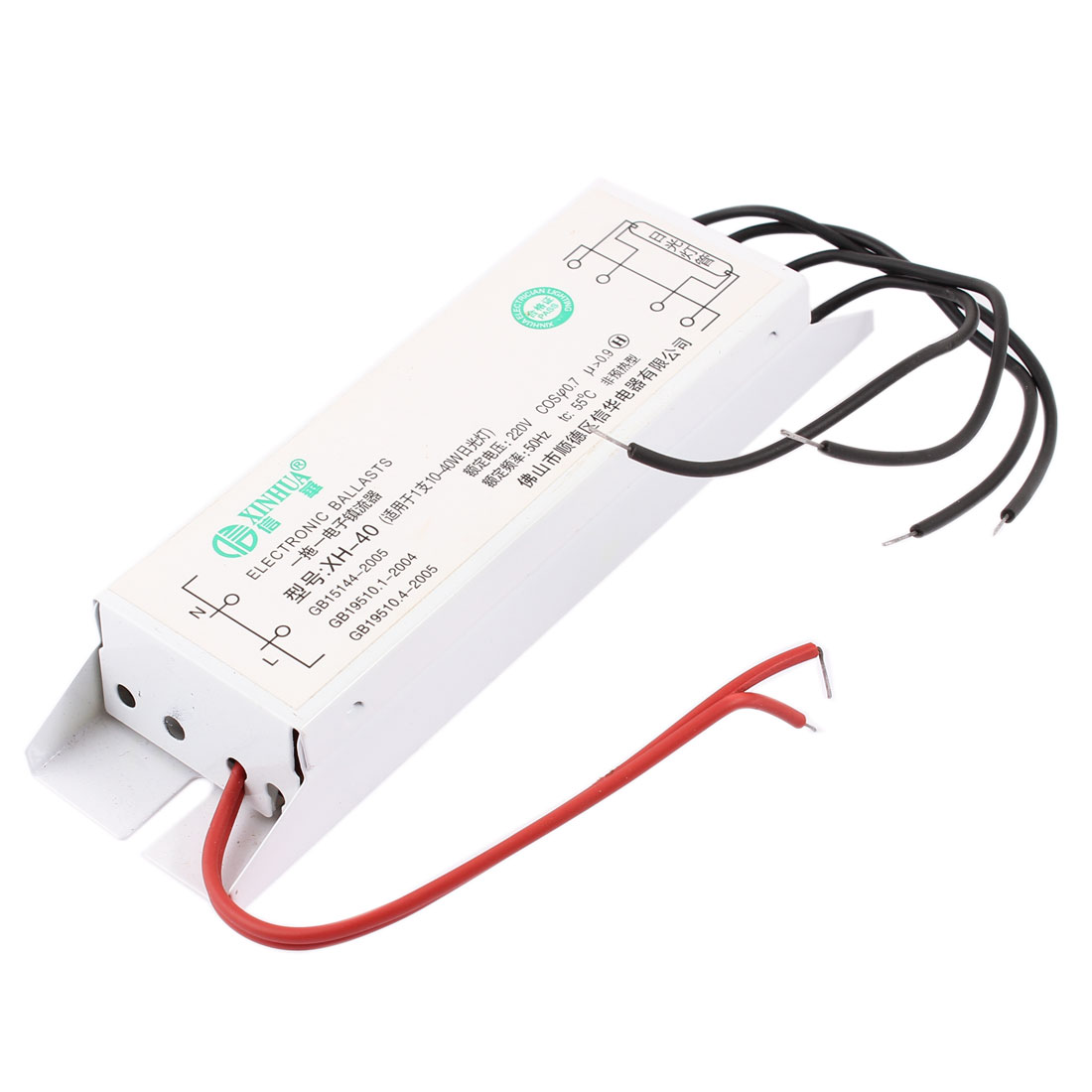 AC 220V 0.9A White Rectangle Fluorescent Light Ballasts 40W Watt