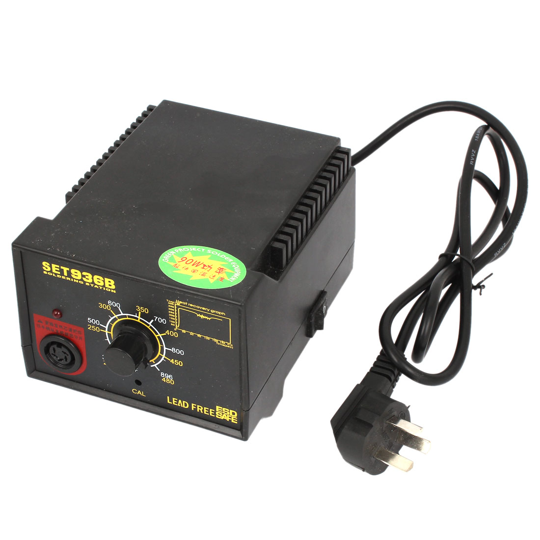 AU AC 250V 10A 90W Double Reading Sensor Soldering Station Black w Stand Bracket