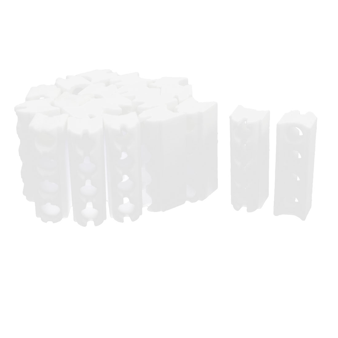 20pcs White 4 Position Insulated Insulation Ceramic for Heating Element