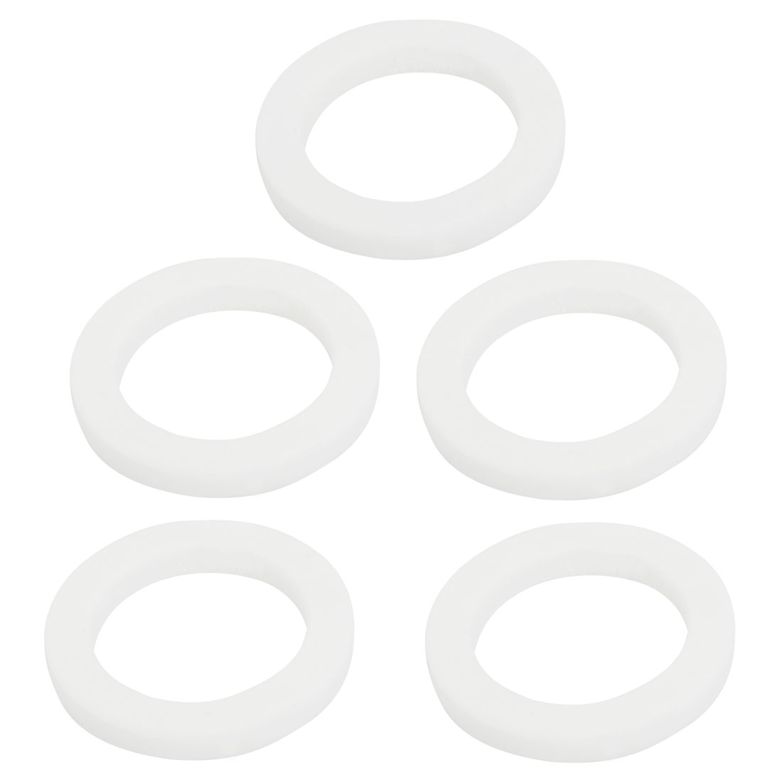 26.3mm OD 3mm High White Ceramic Insulation Protection Washer 5 Pcs