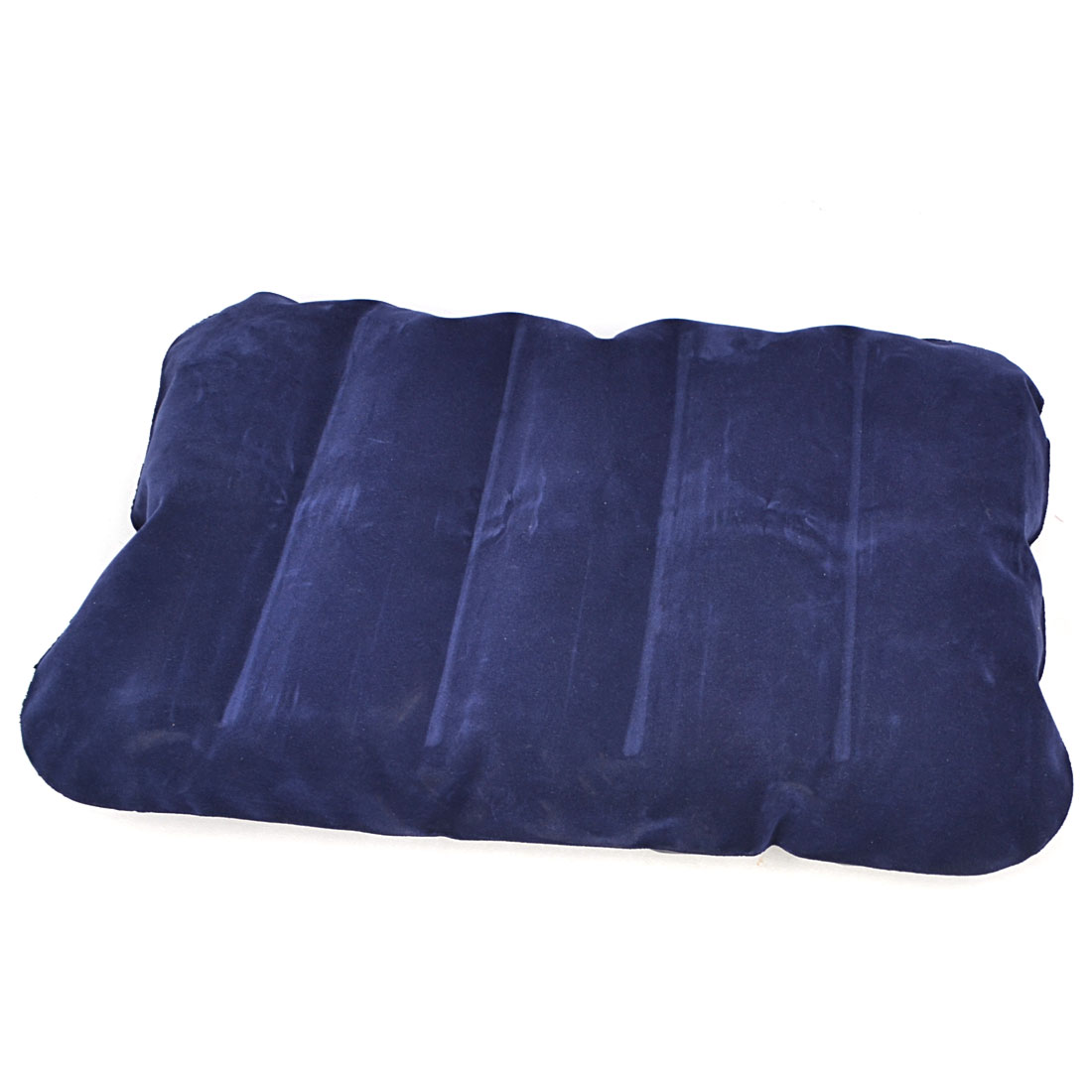 Home Royal Blue Flannel Surface Inflatable Pillow Neck Head Cushion