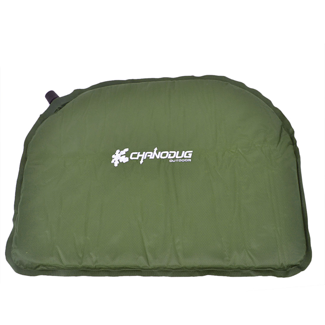 Outdoor Camping Automatic Inflatable Seat Air Cushion Army Green Gray