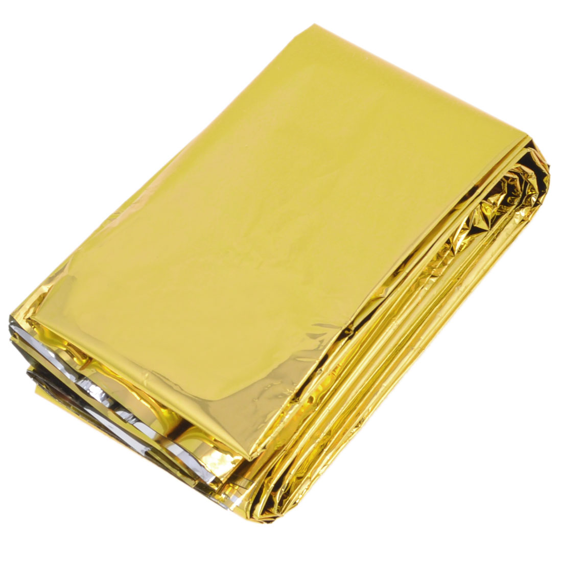 Outdoor Rescue Solar Warming Mylar Emergency Blanket 2.1M x 1.4M Gold Tone