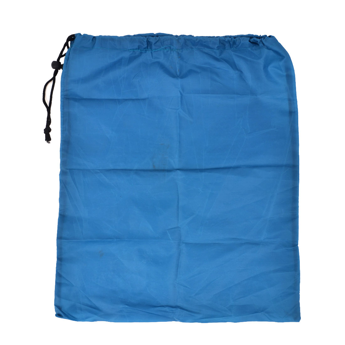 Drawstring Closure Teal Blue Nylon Moisture Proof Mat Holder Bag Pouch