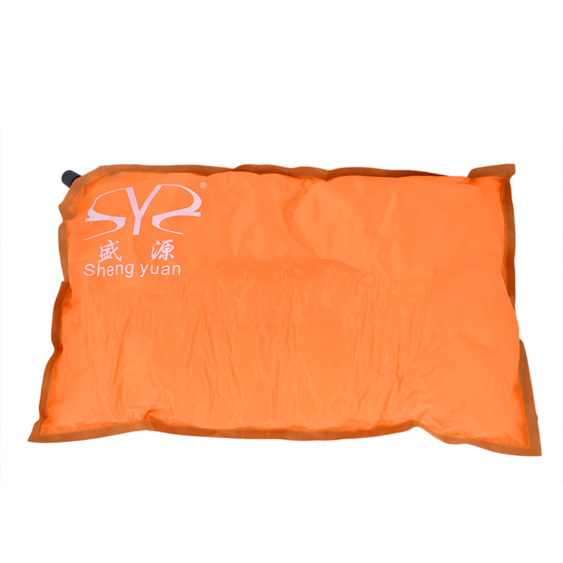 Car Home Automatic Inflatable Pillow Waist Back Seat Cushion Orange Gray