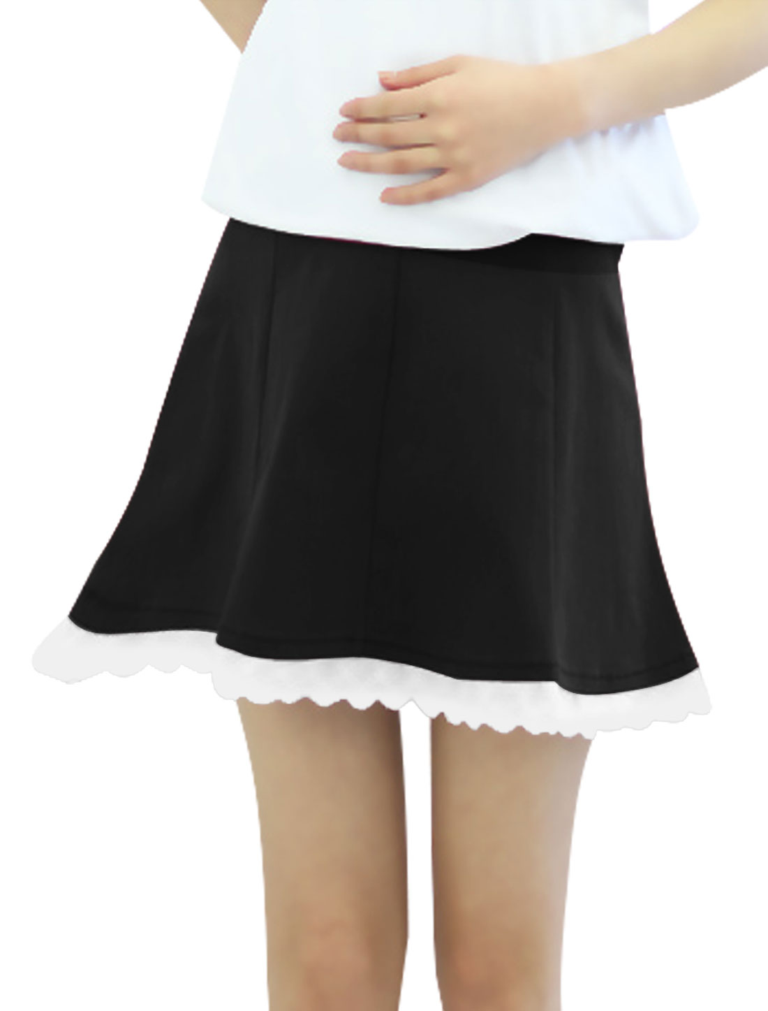 Motherhood Drawstring Button Adjust Waist Skirt Black XS