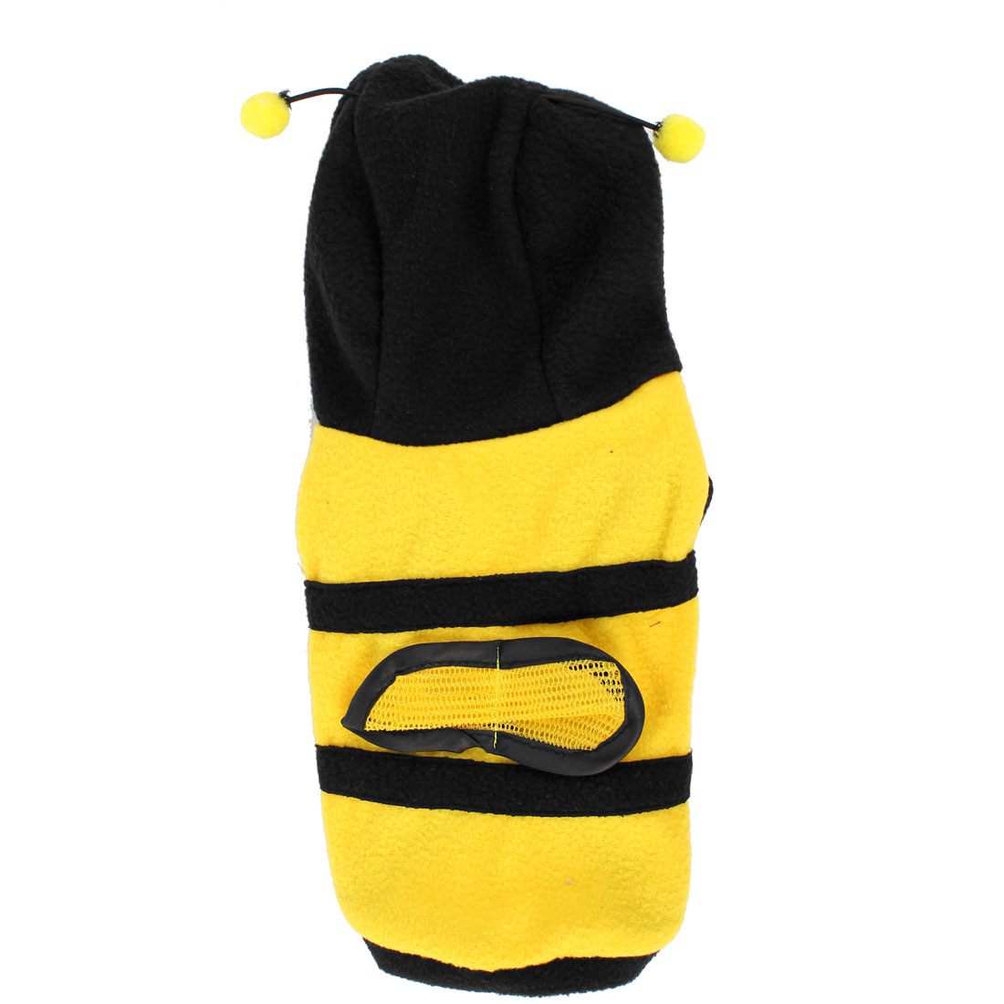 Yellow Black Bee Design Single Breasted Hoodie Pet Dog Puppy Coat Apparel Size XS