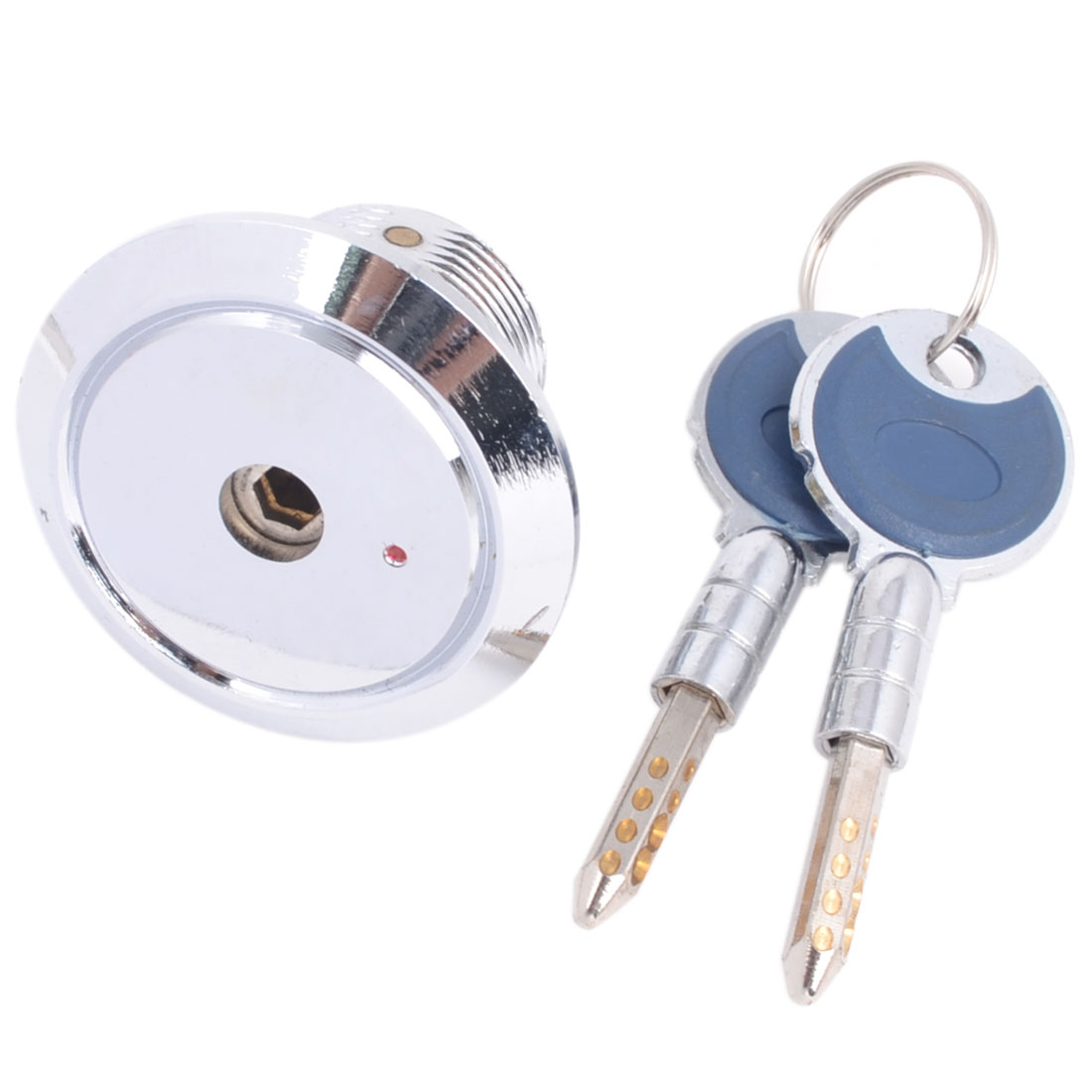 50mm x 53mm Thread Mailbox Cabinet Desk Drawer Quarter Turn Cam Lock w Keys