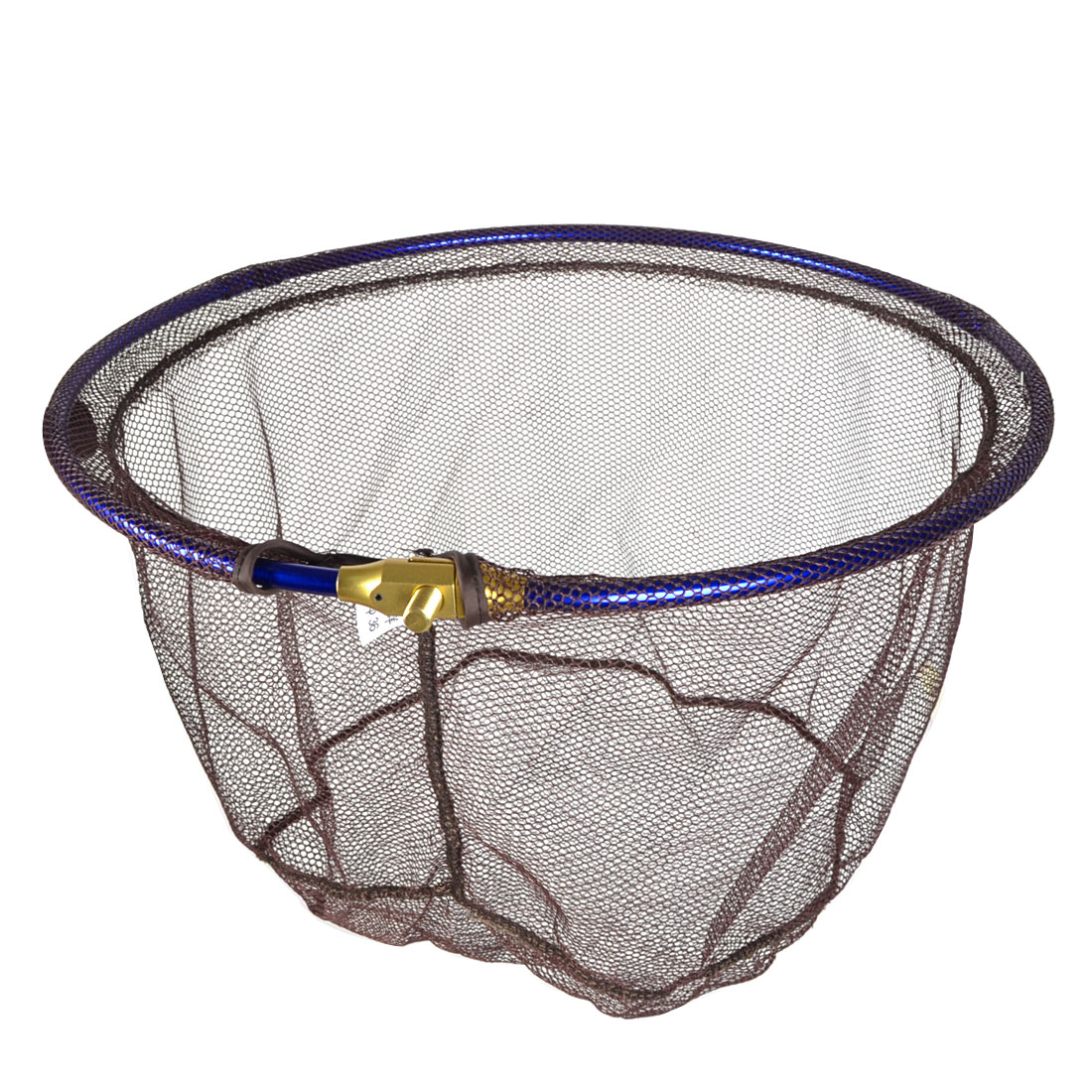 Blue Stainless Steel Frame Foldable Nylon Fishing Landing Net Head