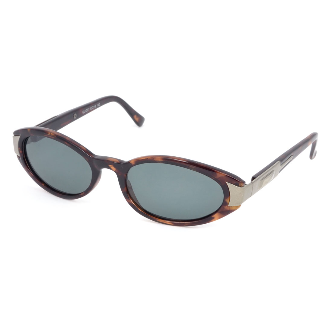 Woman Brown Plastic Full Rim Gray Lens Polarized Sunglasses