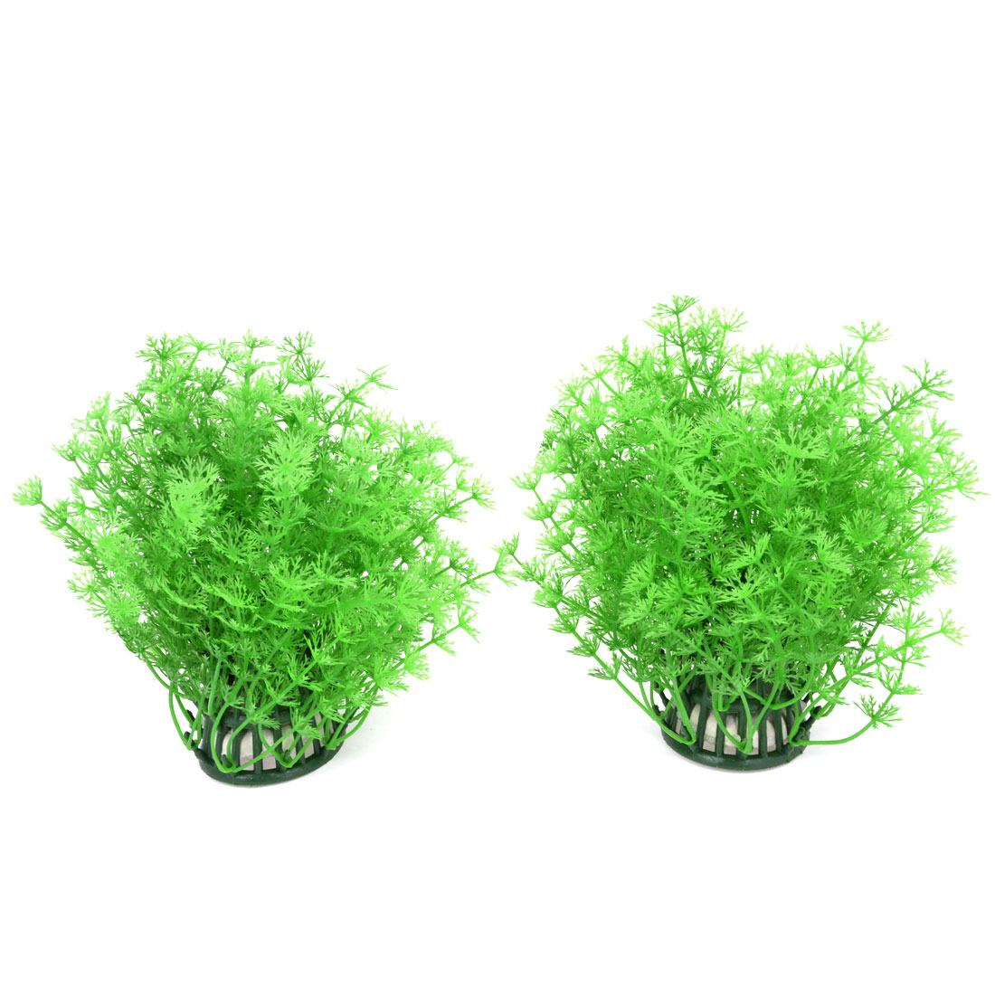 Fish Tank Green Artificial Water Grass Ornament 18cm Height 2PCS