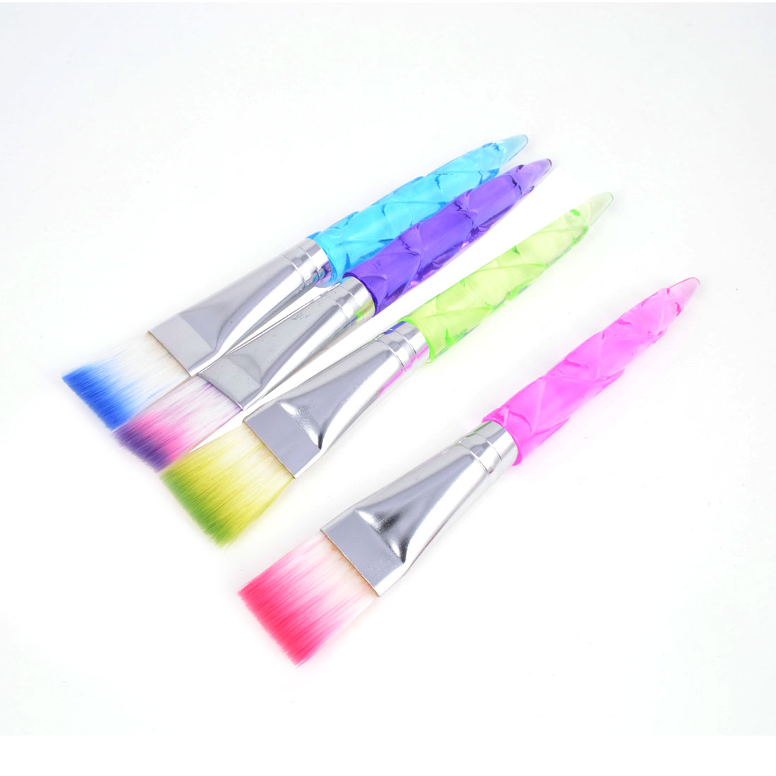 Lady Plastic Handle DIY Mud Mask Mixing Brushes Multicolor 4 PCS