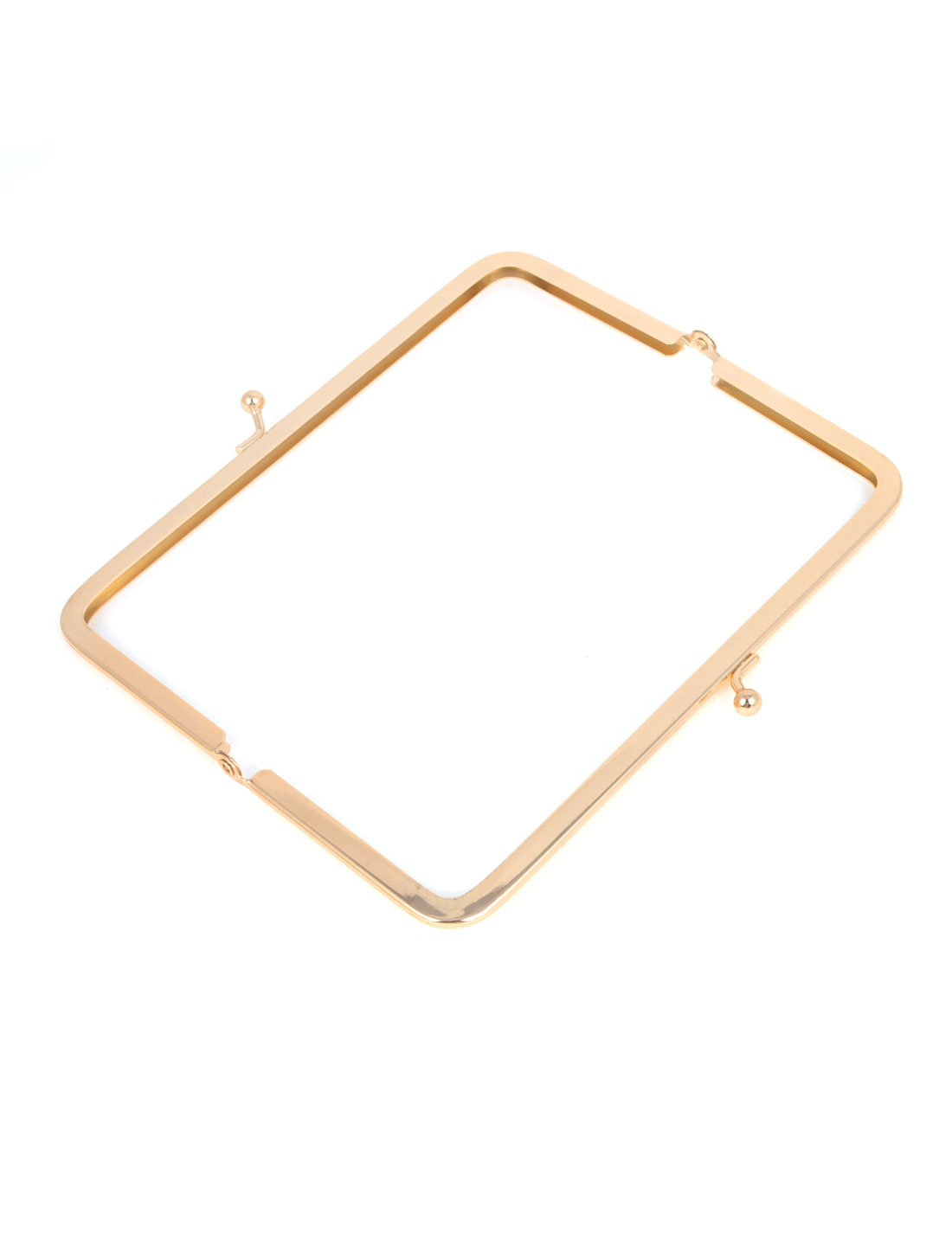 Gold Tone Metal Rectangle Kiss Lock Frame 16cm for Handbag Purse