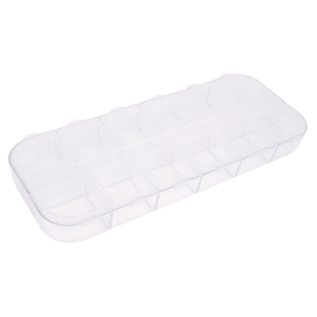 Clear Plastic 12 Slots Fishing Hook Fish Lure Bait Storage Case Holder