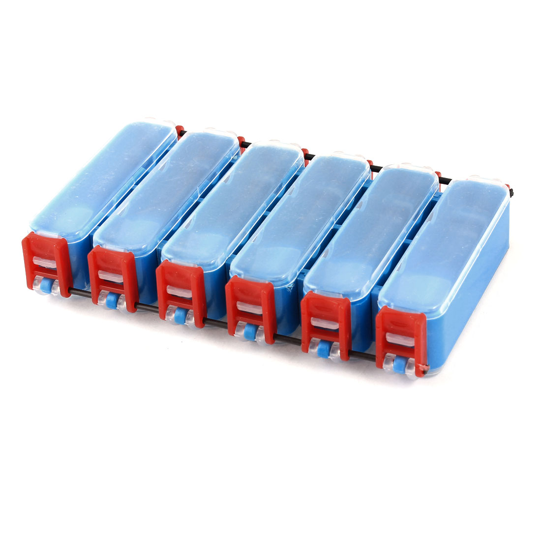 Plastic Rectangular Double Side 12 Slots Fish Hook Tackle Box Fishing Bait Lure Storage Case Holder Organizer