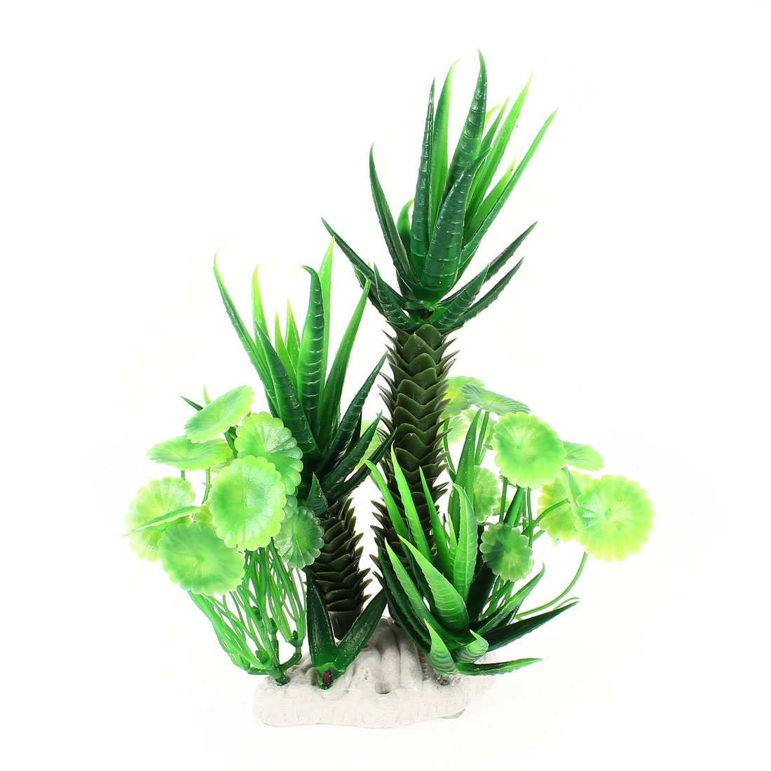 22cm Height Fish Tank Simulated Green Plastic Decorative Water Aquaric Plant