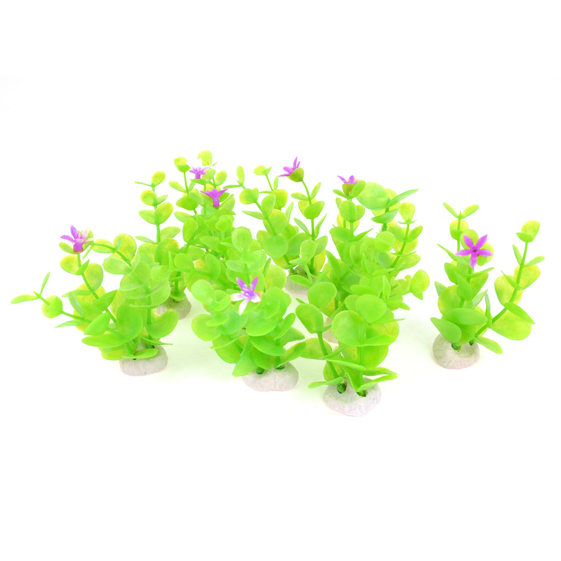 10pcs Fish Tank Aquascaping Emulational Purple Flower Decor Water Plant 4.7""