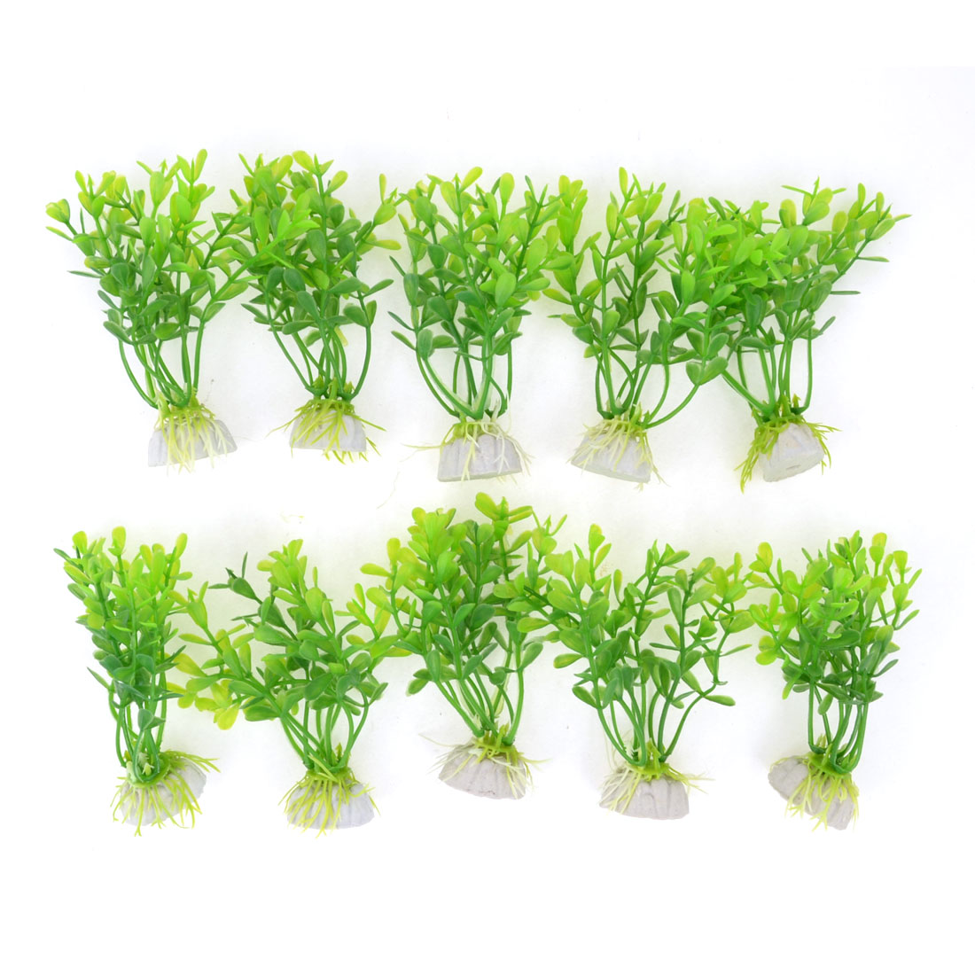 10pcs Green Aquarium Landscaping Simulated Aquatic Plant Decor 4.1""
