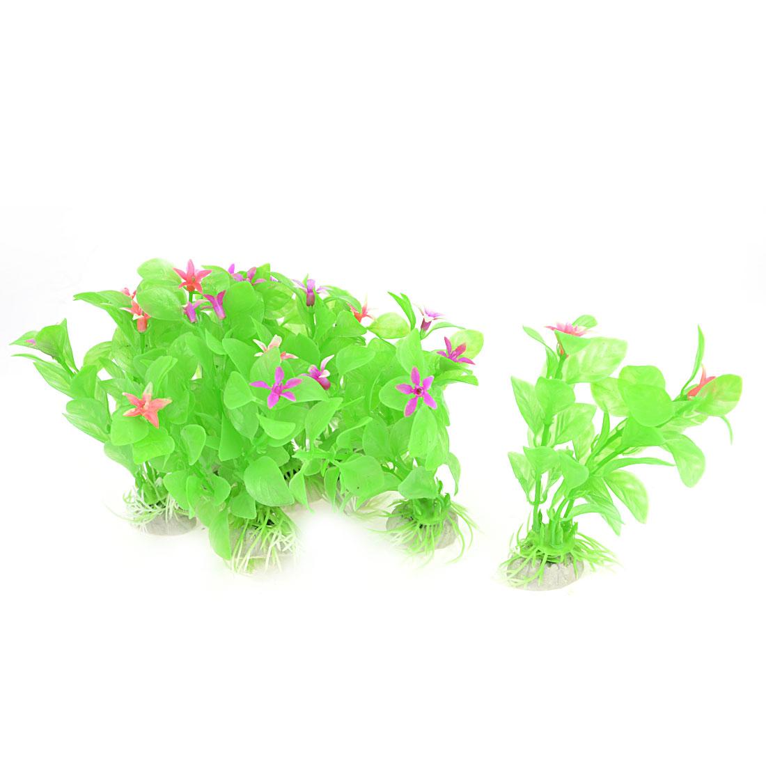 Aquarium Tanks Decor Green Plastic Emulational Aquaric Plant Grass 10cm 10 Pcs