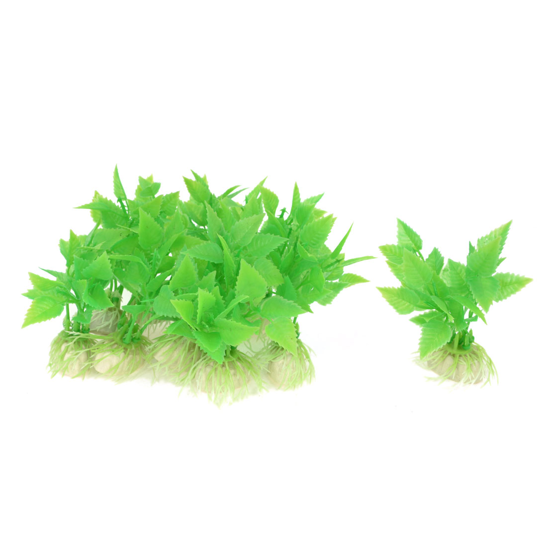 Aquarium Tanks Decor Green Plastic Emulational Aquaric Plant Grass 9cm 10 Pcs