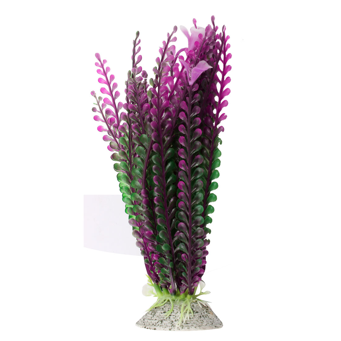 "Aquarium Fish Tank Landscaping Artificial Emulational Underwater Water Plant Grass Decor Green Purple 8"" Height"