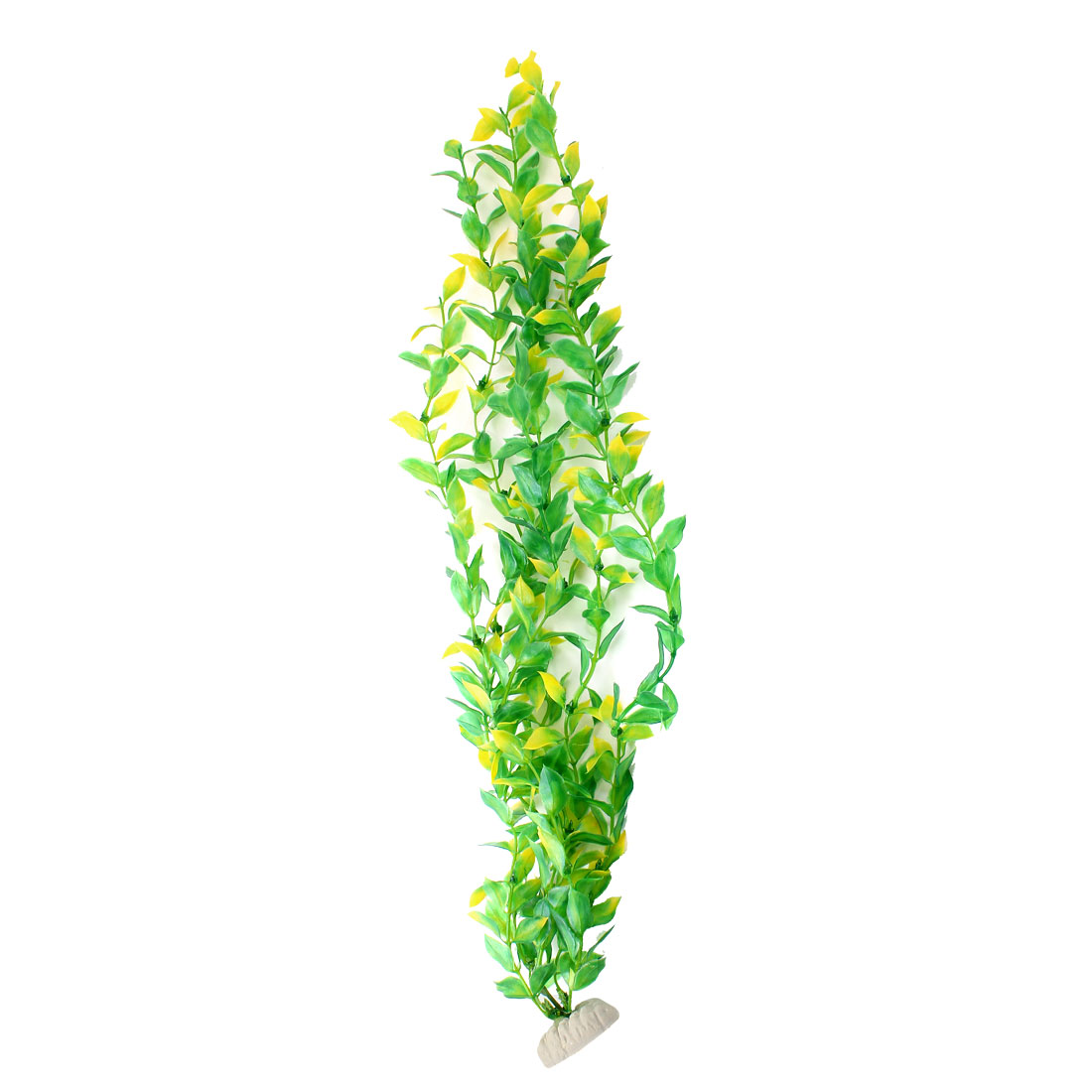 "Aquarium Fish Tank Ornament Landscaping Artificial Emulational Underwater Water Plant Grass Decor Green Yellow 23.5"" Height"