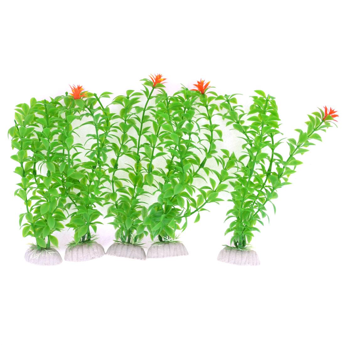 Aquarium Tanks Aquascaping Green Plastic Decorative Underwater Plant 5pcs 18cm