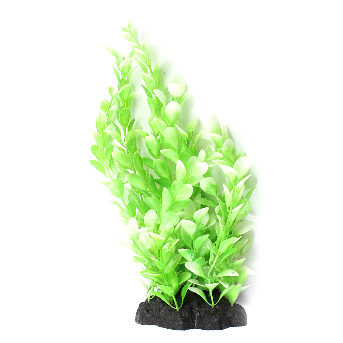 "Aquarium Fish Tank Ornament Landscaping Artificial Emulational Underwater Water Plant Grass Decor Green White 8.7"" Height"
