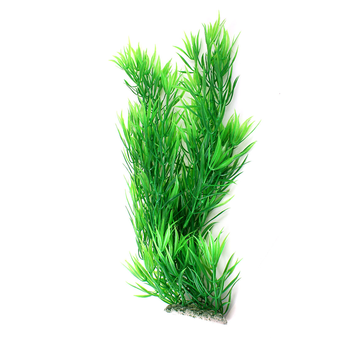 "Aquarium Fish Tank Landscaping Artificial Emulational Underwater Water Plant Grass Ornament Green 14.5"" Height"