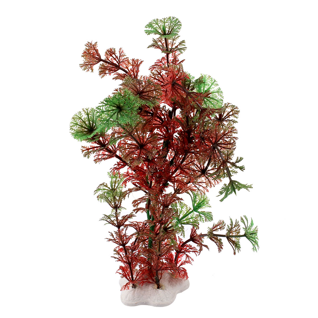 "Aquarium Fish Tank Ornament Landscaping Artificial Emulational Underwater Water Plant Grass Decor Green Amaranth 8.7"" Height"