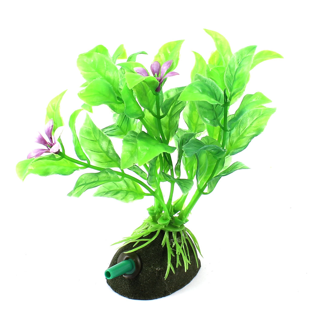 "Aquarium Fish Tank Landscaping Artificial Emulational Underwater Water Plant Grass Ornament Green 4.7"" Height"