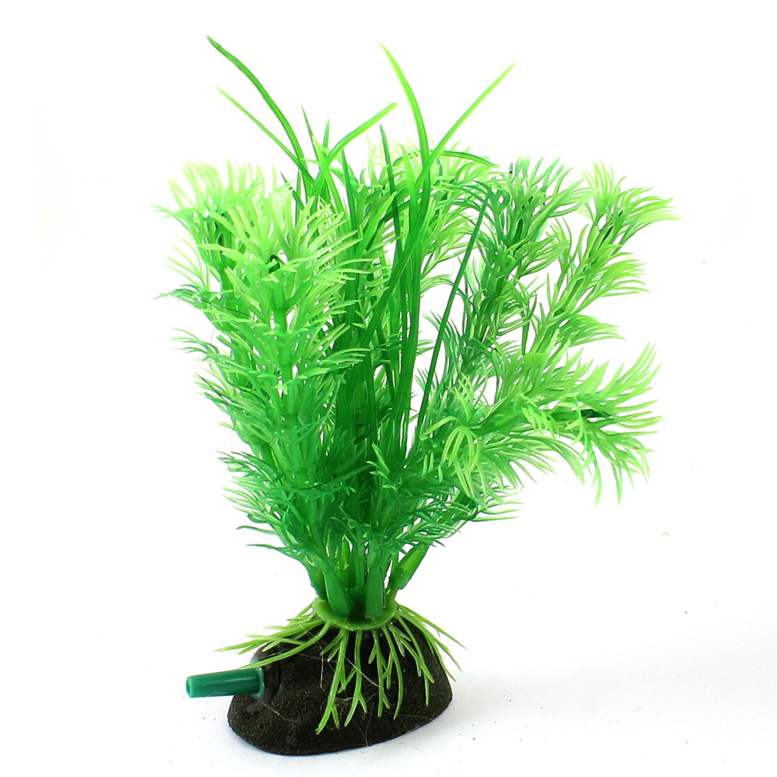 "Aquarium Fish Tank Ornament Landscaping Artificial Emulational Underwater Air Stone Grass Decor Green 5"" Height"