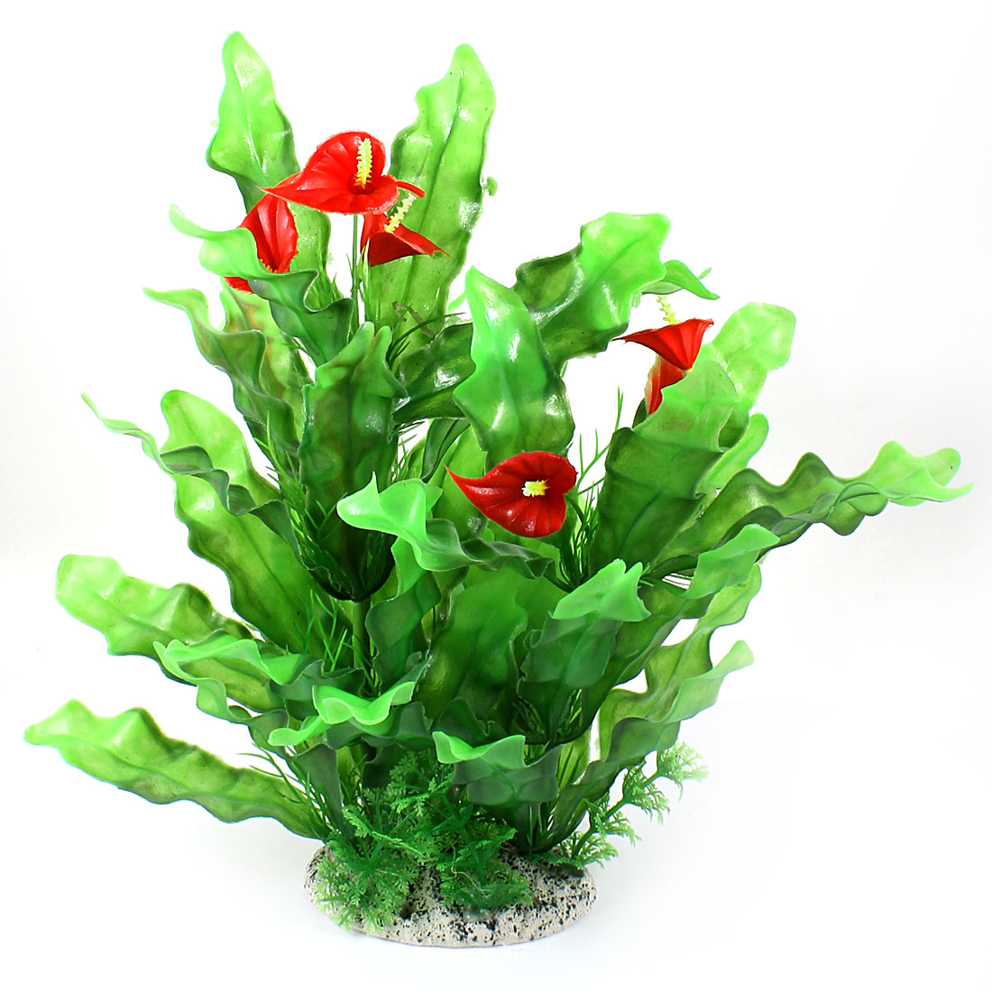 "Aquarium Fish Tank Ornament Landscaping Artificial Emulational Underwater Water Plant Grass Decor Green Red 11.8"" Height"