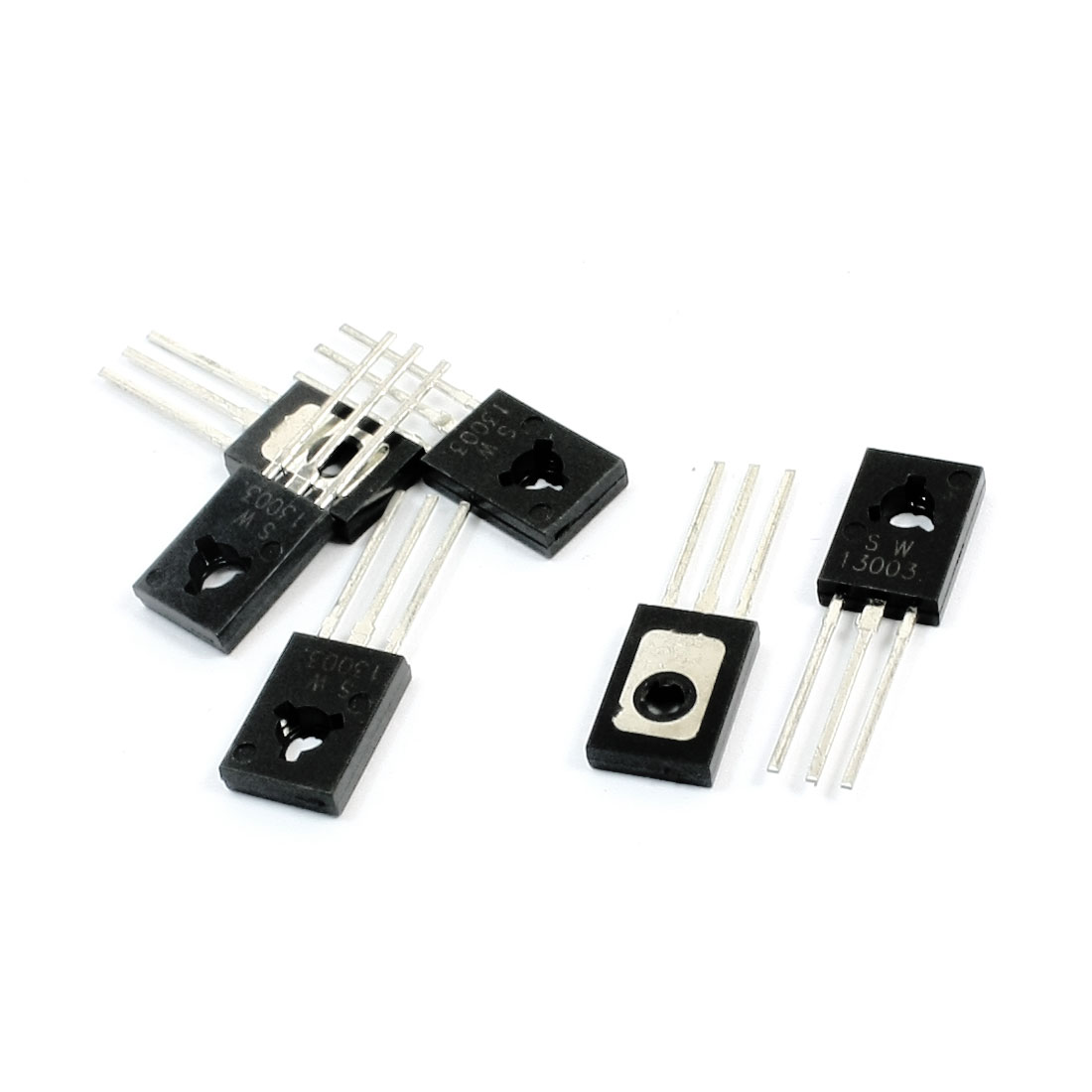 6 Pcs 13003 TO-126 NPN Through Hole General Purpose Electric Component Bipolar Power Transistor 500V 0.3A