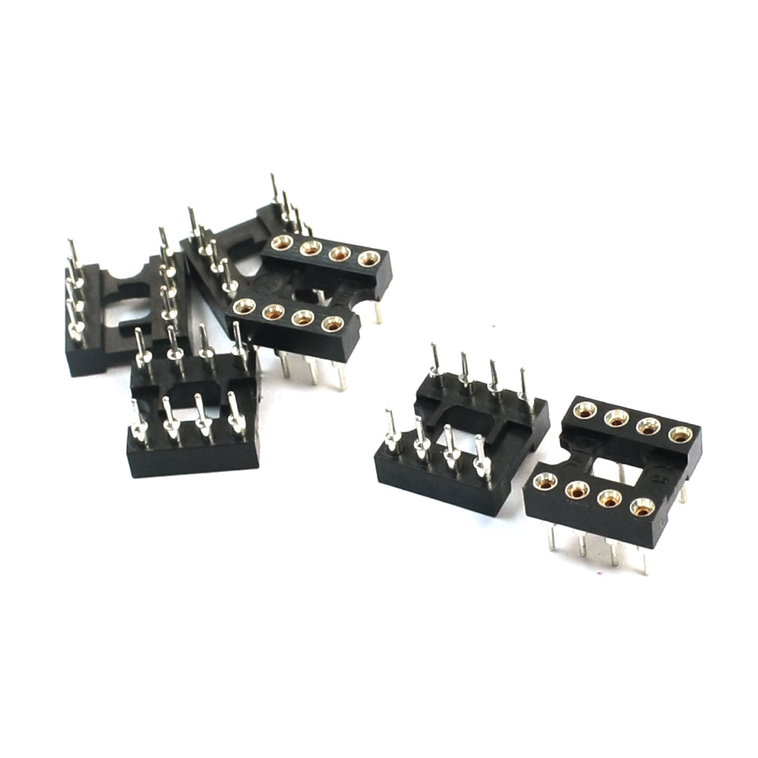 6Pcs 2.54mm Pitch Dual Row 8 Pins DIP PCB Surface Mounting Soldering Type IC Socket Adapter