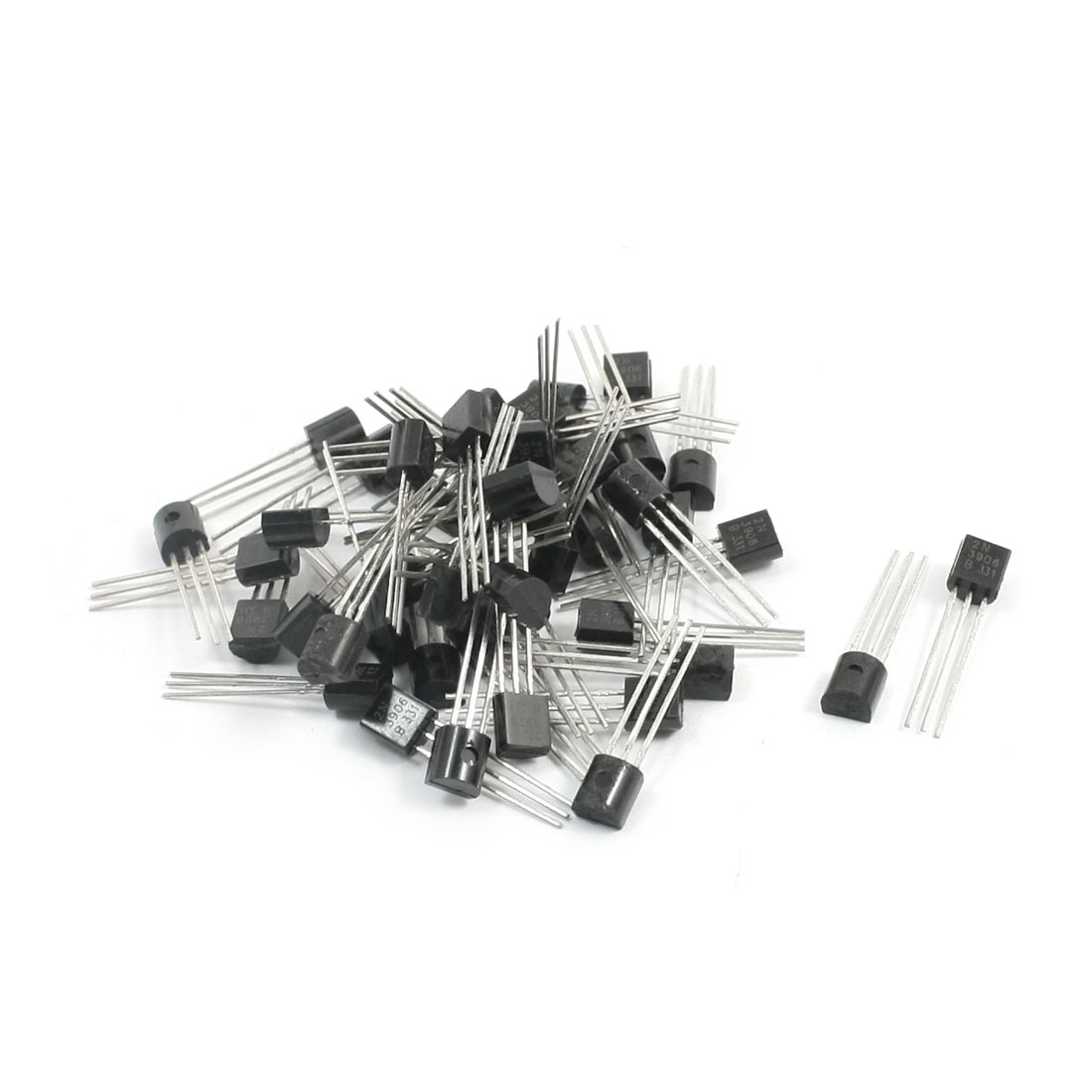 2N3906 PNP TO-92 Electric Component 3 Pins Through Hole Mount General Purpose Power Transistor 40V 0.2A 50Pcs
