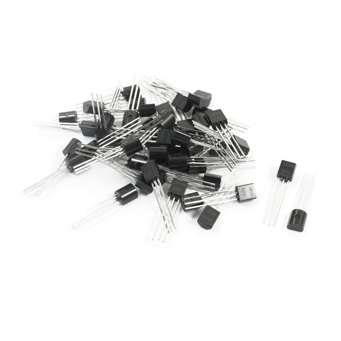50Pcs S8550 TO-92 PNP Type 3 Pins PCB Through Hole General Purpose Power Silicon Triode Transistor 30V 30mA